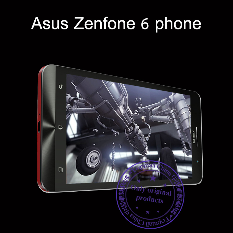 Fast ship original ZenFone 6 phones for Asus Intel Atom Z2580 Dual Core 2.0GHz 6.0 inch IPS 2GB RAM 16GB ROM 13MP Smartphone(China (Mainland))