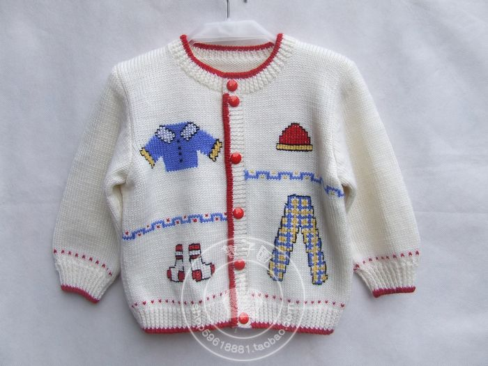 Q019 ## hand-knit wool sweater pure infant / baby Sanli cardigan coat out clothes for children KidsFree Shipping(China (Mainland))