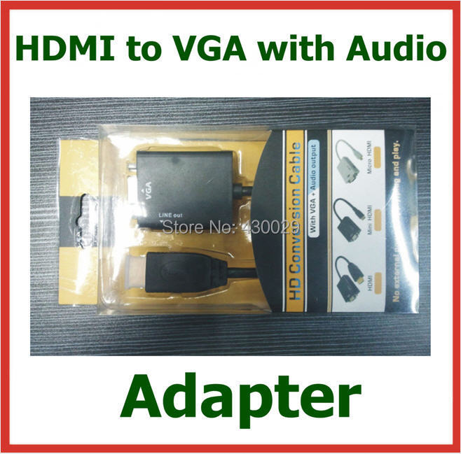 10pcs HDMI to VGA with Audio Cable 1080p HDMI to VGA Converter Male to Female Adapter for PC Monitor Projector TV Xbox 360<br><br>Aliexpress
