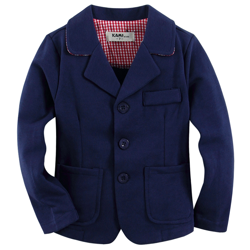 Knitted cotton 100 toddler boy blazer BB1603 B Blue with red font b plaid b font