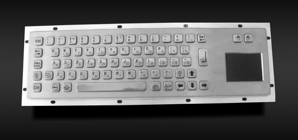 Rugged metal industrial keyboard with touchpad(China (Mainland))