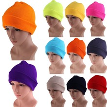 Men's Women Beanie Knit Ski Cap Hip-Hop Color Winter Warm Unisex Wool Hat E#A3(China (Mainland))