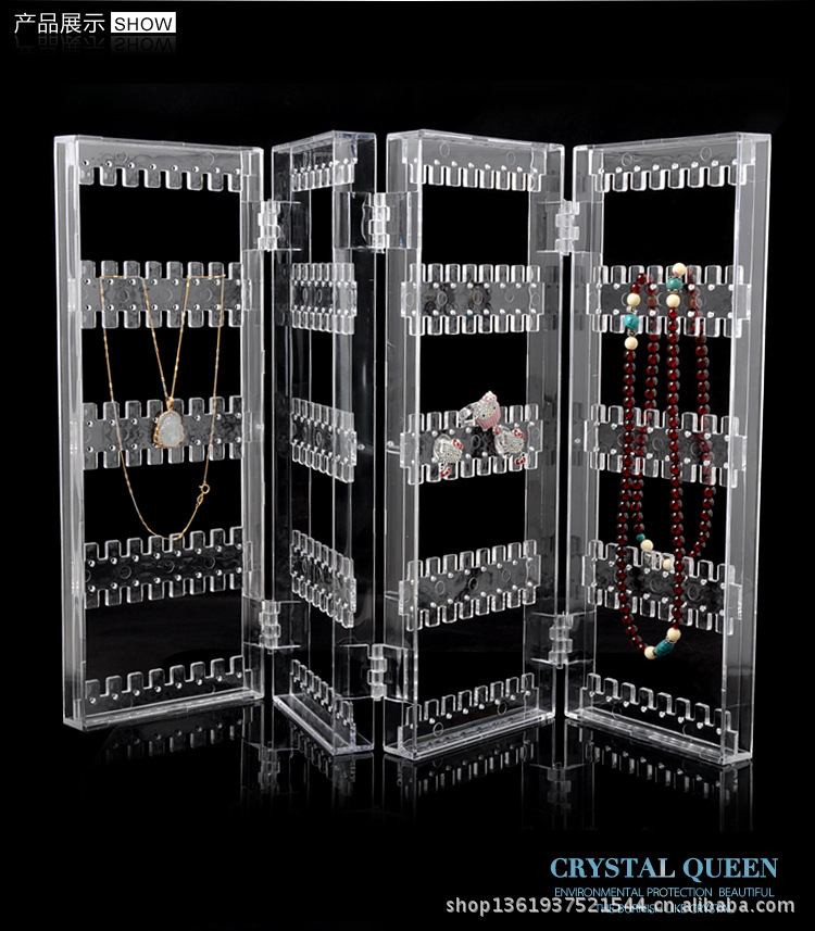 New arrived 48pc/lot fashion jewellery organizer jewelry holder stand packaging display necklace earring cases shelf rack(China (Mainland))
