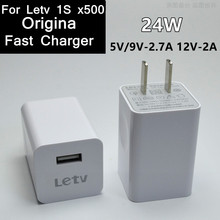 Buy Original 5 v /9v 2.7A 12V/2A USB Fast Travel Charger Adapter US plug Letv 1S x500 X501 24W QC2.0 charger + cable for $9.50 in AliExpress store