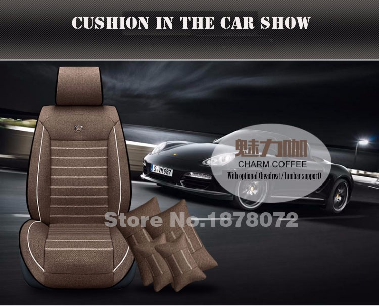 High quality linen Universal car seat covers For KIA K2/3/4/5 Cerato Sportage Optima Maxima car accessories styling