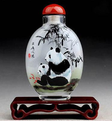 Free-shipping-Inside-painting-Snuff-bottle-Beautiful-Tradditional-Chinese-fork-art-Snuff-bottle-panda-china-9