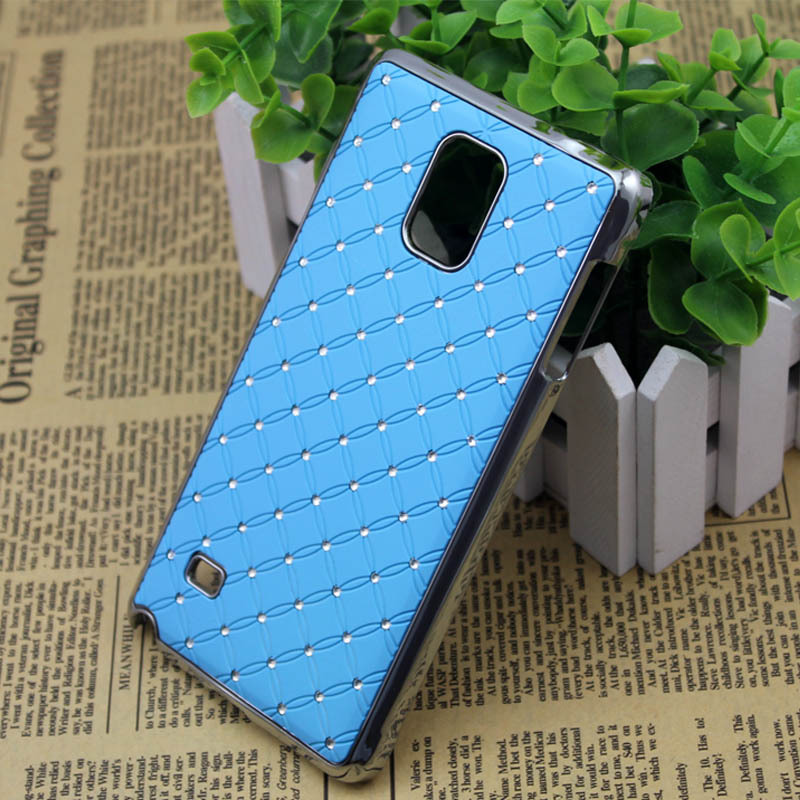 New 2015 Mix colors Full stars phone case hard cover diamond case For Samsung GALAXY Note4 N9100/ galaxy Mega 6.3 i9200(China (Mainland))