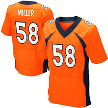 Men's #58 Von Miller Jerseys Adult #18 Peyton Manning 12 Paxton Lynch 88 Eemaryius Thomas Navy Blue Orange Elite Jersey Stitched(China (Mainland))