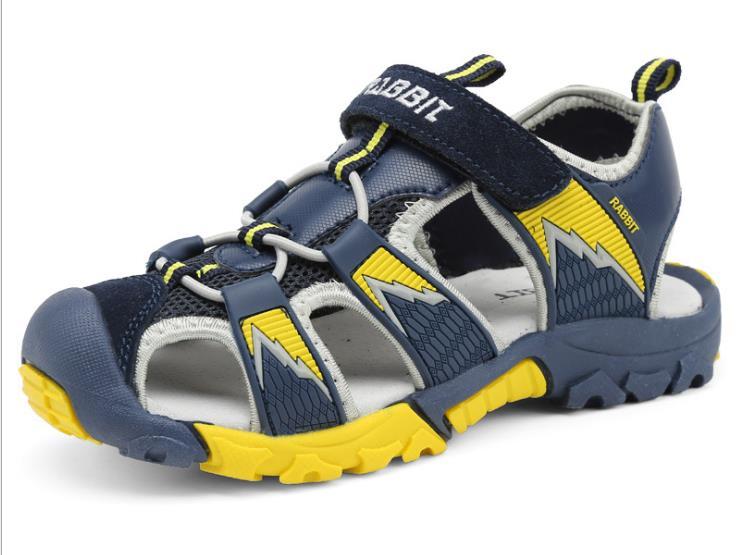 2016 summer children sandals foreign trade genuine leather flat heel boy sandals plus size beach 25-38 boy baby sandals<br><br>Aliexpress