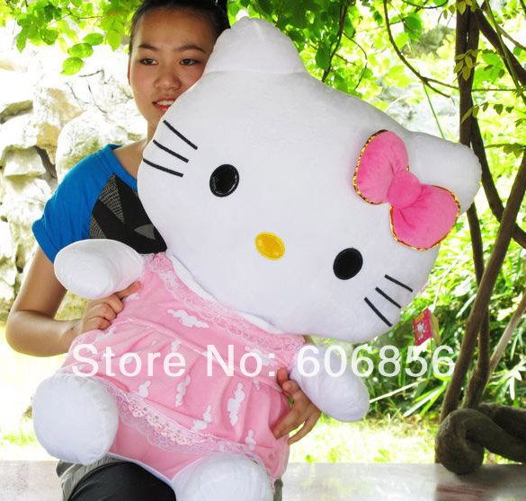new fashion plush hello kitty toys,best price and high quality sanrio doll classical gift ,k750(China (Mainland))