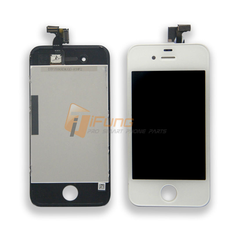 100% Guarantee Black White LCD Display + Touch Screen digitizer Assembly For iPhone 4 4G 4S LCD Complete with Free DHL 30PCS(China (Mainland))