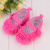 DeLeBao Rose Red Polka Dot Babies Shoes For Newborn 0-12 Months Baby Shoes Soft Cotton Fabric Non-slip First Baby Girls Shoes