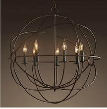 60cm Vintage American Industrial Pendant Lights RH LOFT  Bar Cafe Hanglampen Light Fixtures Nordic  E14 Led Pendant Lamp Retro