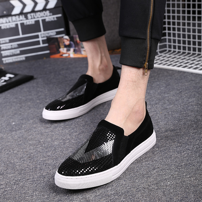 loafers fashion mens casual loafers flock mens leather
