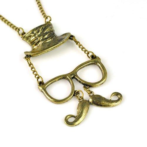 cute men's Beard with glasses and hat ,heard wear pendant ...