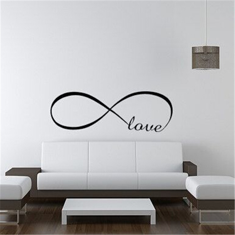 Hot Sale Wall Stickers Home Decor English Love Vinyl Lettering Words Wall Art Quote Sticky Decals Vinly quote decal 1pcs(China (Mainland))