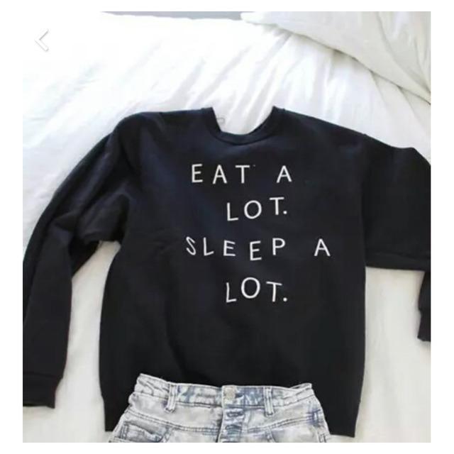 Съесть много сна много 2015 новых зимой женщины толстовки толстовки с капюшоном теплый ...