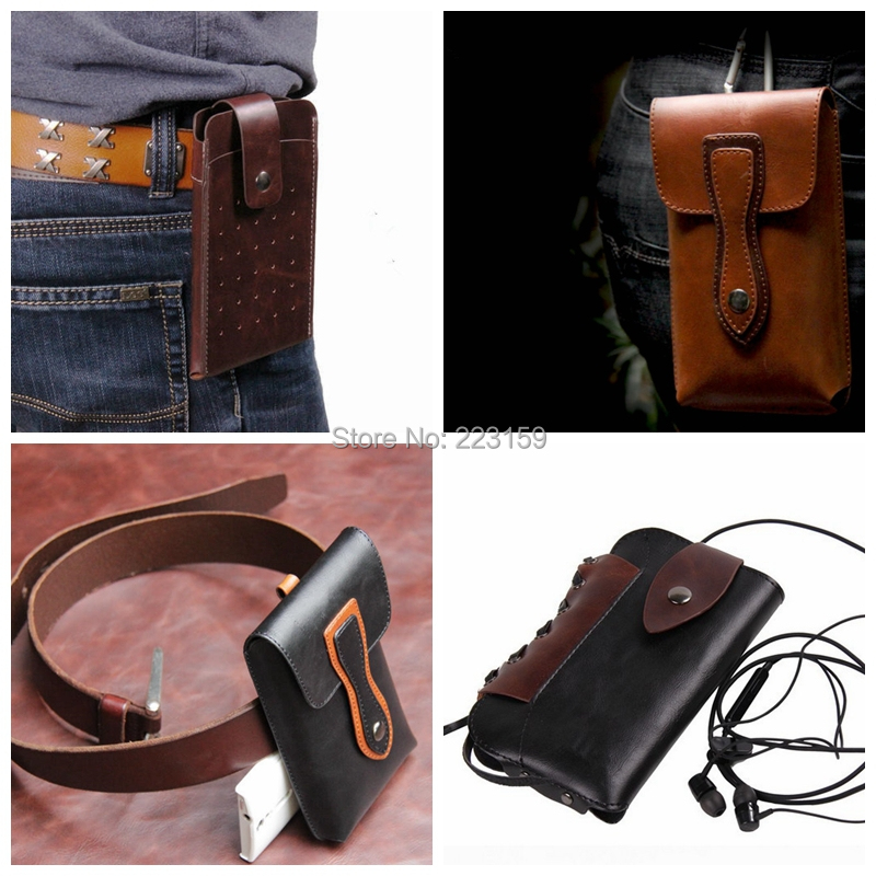 2015 NEW Mobile Phone Bag Outdoor fashion luxury Holster Clip Belt Leather Pouch Case Oneplus one/One plus one - Evan Xi's store