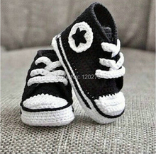 100% Handmade Crochet Infant Toddler Indoor Star Booties Shoes Baby Boys Sports Shoes Kids Star Booties Shoes Soft Sole Sneakers(China (Mainland))