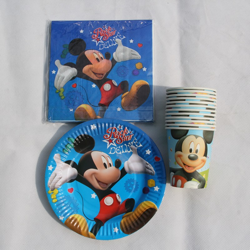 60pcs/set 20 people kids birthday party decoration, boy event party supplies favor items for mickey mouse party(China (Mainland))