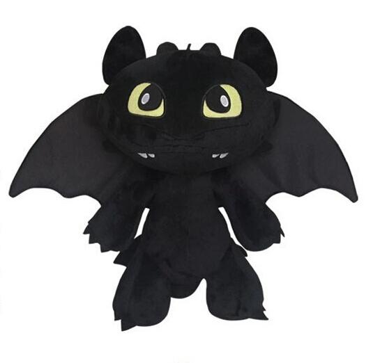 18cm Night Fury Plush Toy How To Train Your Dragon 2 Plush Toy Toothless Dragon Stuffed Animal Dolls Movie Black(China (Mainland))