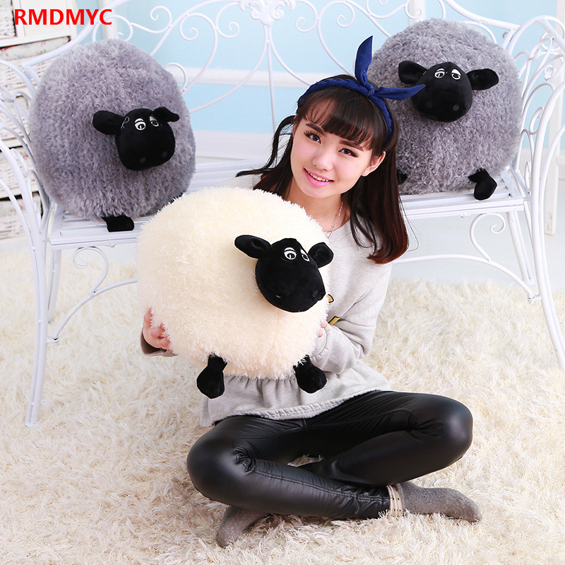 RMDMYC Cartoon Shaun The Sheep Plush Toy Lovely 30~50cm Big Size Stuffed Animal Sheep Chubby Shaun Plush Dolls Toys for Children(China (Mainland))