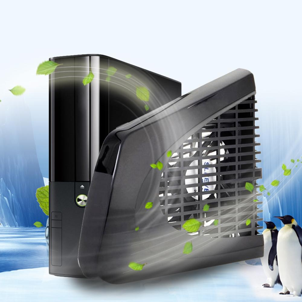 Vakind new black usb side cooling fan specially designed for xbox 360 slim console free shipping - The newest xbox 360 console ...