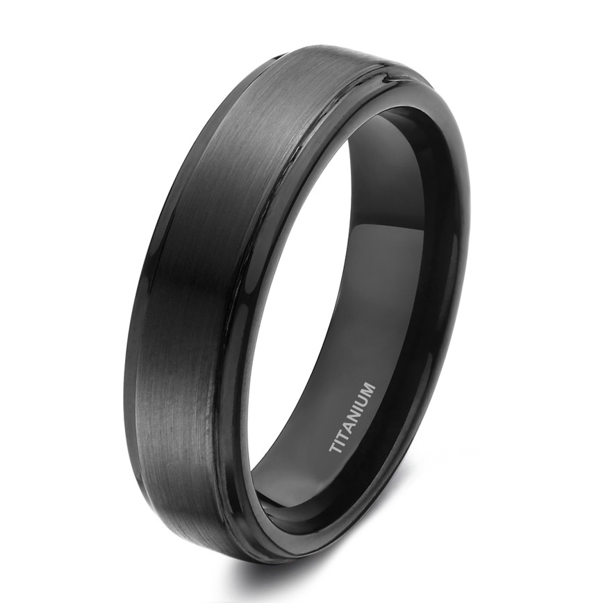 Wide Channel Set CZ Couples Wedding Band Ring 7MM Silver Tone Titanium