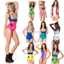 Free Shipping Fashon Women Bathing Suit America Canada Flag Printed Swimsuit One Piece Sexy Swim Wear Digital Printed Suits
