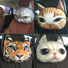 Buy Car seat head cushion dog cat tiger car creative headrest car seat cushion auto supplies Neck headrest for $8.08 in AliExpress store