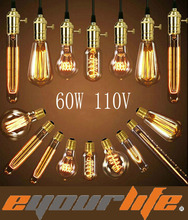 Eyourlife Edison Bulbs 110v 60w E27 Incandiscent Light Bulbs Decoration Of Living Room Bedroom ST64/A19/G80/G95/G125/T30/T45  99(China (Mainland))