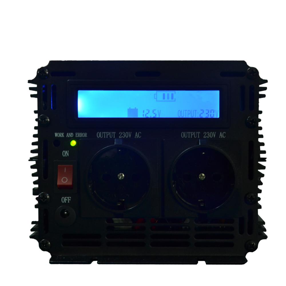 DoPower LCD digital inverter 12v to 220v modified sine power inverter 3000w 6000 watt peak home outerdoor converter(China (Mainland))