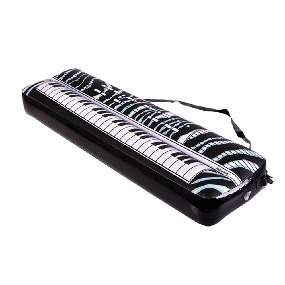 New PVC Inflatable Keyboard Piano Instrument Fun Party Music Toy Children Kids Black and White Gift(China (Mainland))