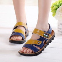 Spring summer sandals shoes 2016 boys general leather  children baby shoes wholesale cheap new(China (Mainland))