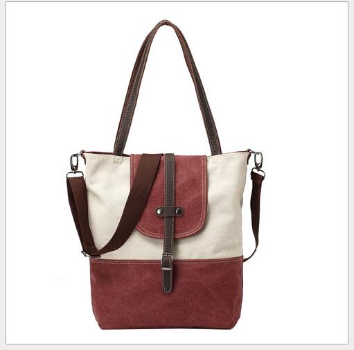 women big canvas totes 4 colors lady casual shoulder bag messenger bag(China (Mainland))
