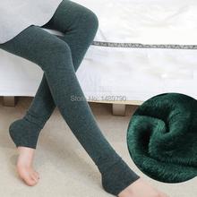 2014 winter leggings super soft warm thick velvet fleece leggings low temperature leggings plus size big women winter leggings(China (Mainland))