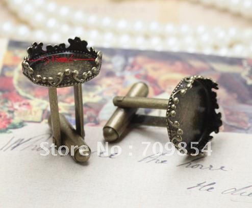 Free Ship!!! Promotion Bulk 300/lot pad:15mm bronze tone crown cufflinks backs blanks jewelry finds/#GNf<br><br>Aliexpress