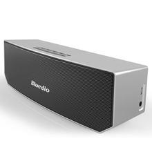Bluedio BS-3 (Camello) Sistema de Sonido del altavoz Inalámbrico Portátil Mini altavoz Bluetooth Música estéreo 3D surround (Plata)