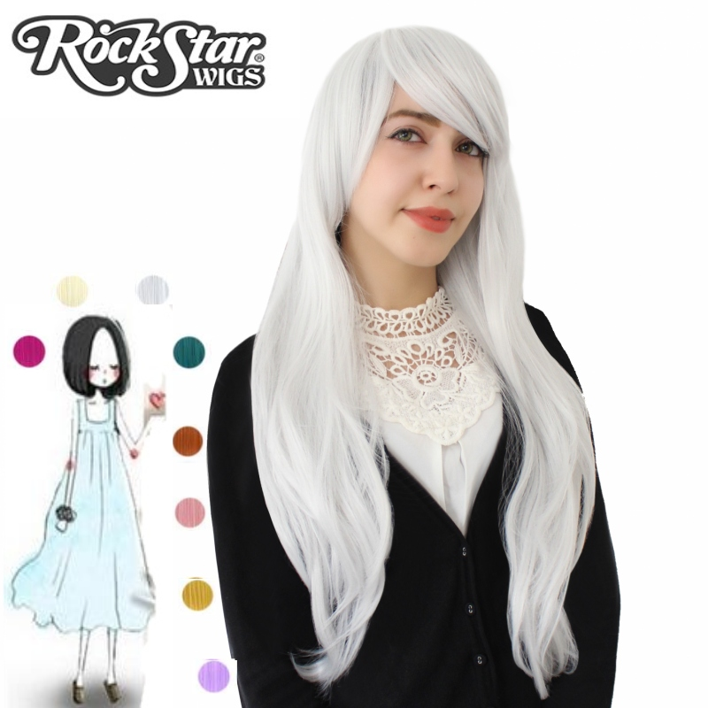 Long length Black/red/silver synthetic daily hair wig,heat resistant synthetic cosplay wig,sexy ladies party hair wig peruca(China (Mainland))
