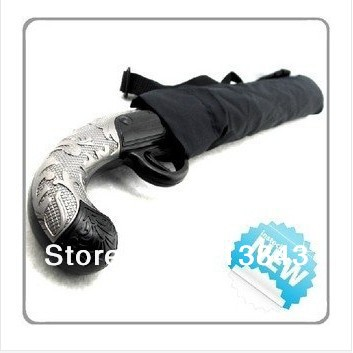 2014 The Ultimate Creative Short Western Gun Umbrella Reinforced Fencing Pistol Fold Portable Umbrella 1PC Free Shipping(China (Mainland))