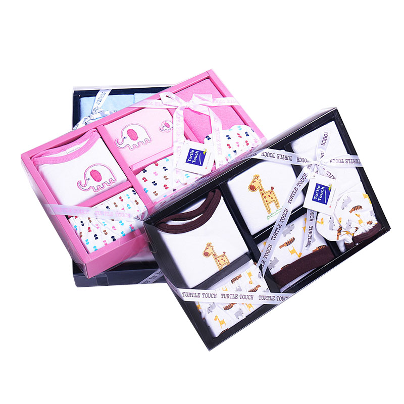 6 PCS/100% cotton Gift Set New Style Baby Cotton Clothing Newborn Hot Sales Gift Infant Cute Clothes(China (Mainland))