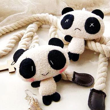 1PC kawaii lover couple Valentine's day gift novelty Chinese mascot doll toy plush panda pendant for mobile phone charm bag