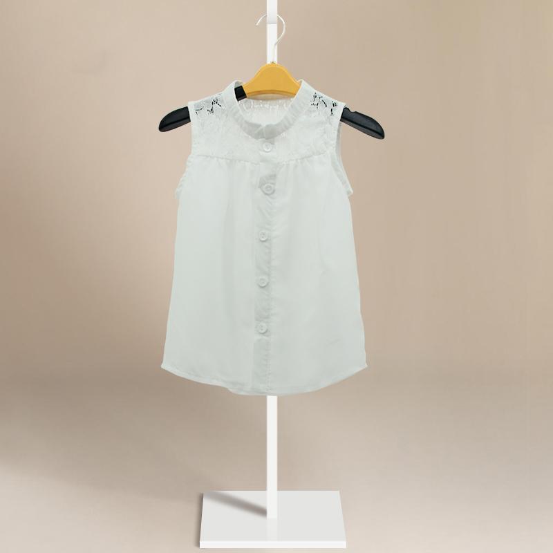 New Baby Girls Kids Princess Sleeveless Lace Casual Tops Shirt shirt Blouse