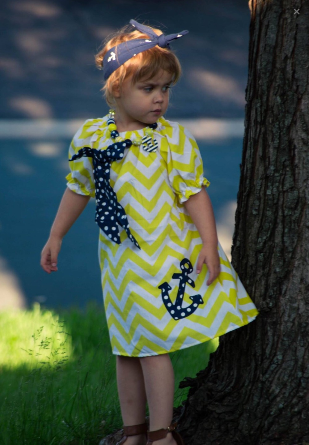 Girls boutiques dress with sleeves, girls navy anchor dress designs for teenage,chevron peasant dress for infant toddler(China (Mainland))