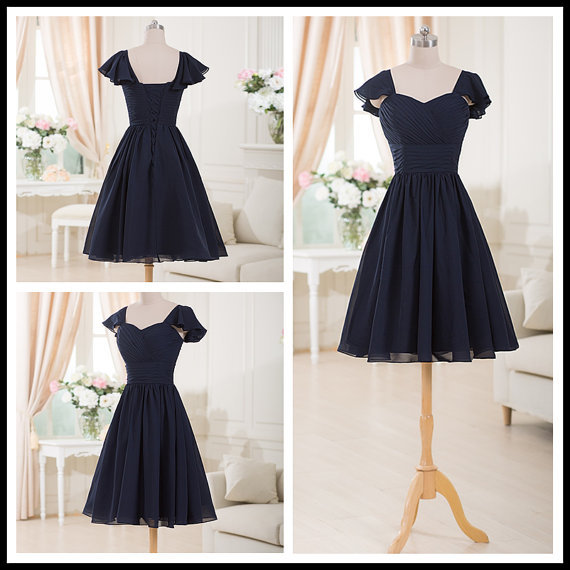 Summer dress cheap black short chiffon plus size for Plus size black dresses for weddings