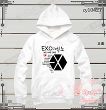 Xo sj sweatshirt exo hood black white red blue paragraph pullover fleece - cuitiecheng store