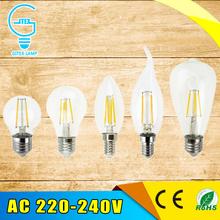 Buy Antique Retro Vintage LED Edison Bulb E27 LED Bulb E14 Filament Light 220V Glass Bulb Lamp 2W 4W 6W 8W Candle Light Lamp for $1.03 in AliExpress store