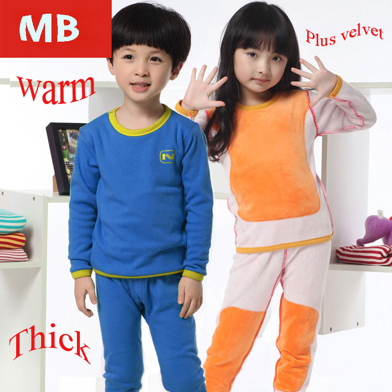 Гаджет  Thermal Underwear Children Boys And Girls Gold Velvet Fall And Winter Thick Underwear Sleepwear None Детские товары
