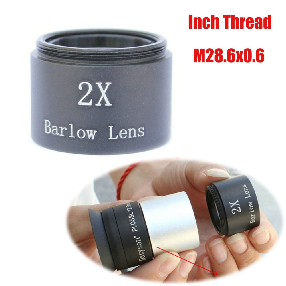 Datyson #5P0084 telescope accessories 2X magnification Barlow Lens M28.6x0.6 Inch Thread for 1.25 inch Eyepiece<br><br>Aliexpress