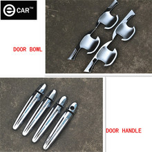 free shipping 2014 Ssangyong Korando handle cover ABS chrome door bowl cover protector (4pcs/set)